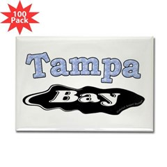 Tampa Bay Oil Spill Rectangle Magnet (100 pack)