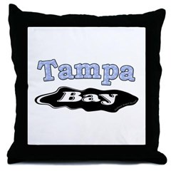 Tampa Bay Oil Spill Throw Pillow