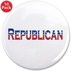 "Republican Logo 3.5"" Button (10 pack)"