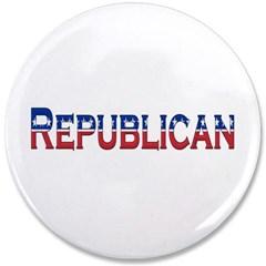 """Republican Logo 3.5"""" Button"""