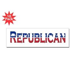 Republican Logo Bumper Sticker 10 Pack