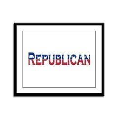 Republican Logo Framed Panel Print