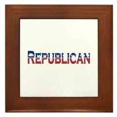 Republican Logo Framed Tile