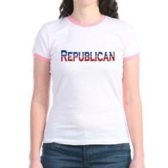 Republican Logo Junior Ringer T-Shirt