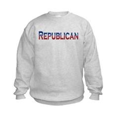 Republican Logo Kids Crewneck Sweatshirt by Hanes
