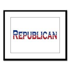 Republican Logo Large Framed Print