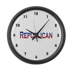 Republican Logo Large Wall Clock