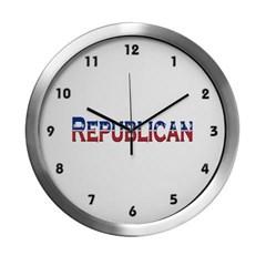 Republican Logo Modern Wall Clock