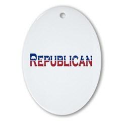 Republican Logo Ornament (Oval)