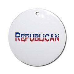 Republican Logo Ornament (Round)