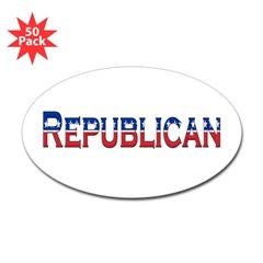 Republican Logo Oval Decal 50 Pack
