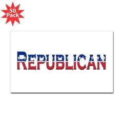 Republican Logo Rectangle Decal 50 Pack