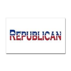 Republican Logo Rectangle Decal