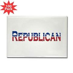 Republican Logo Rectangle Magnet (100 pack)