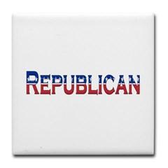 Republican Logo Tile Coaster