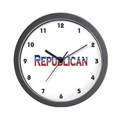 Republican Logo Wall Clock