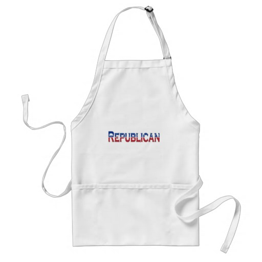 Republican Stars and Stripes Logo Adult Apron