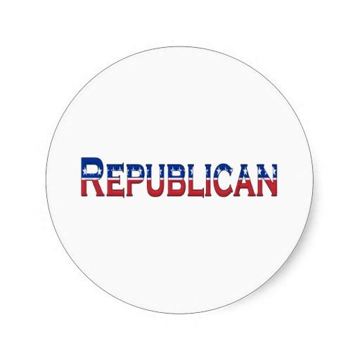 Republican Stars and Stripes Logo Classic Round Sticker