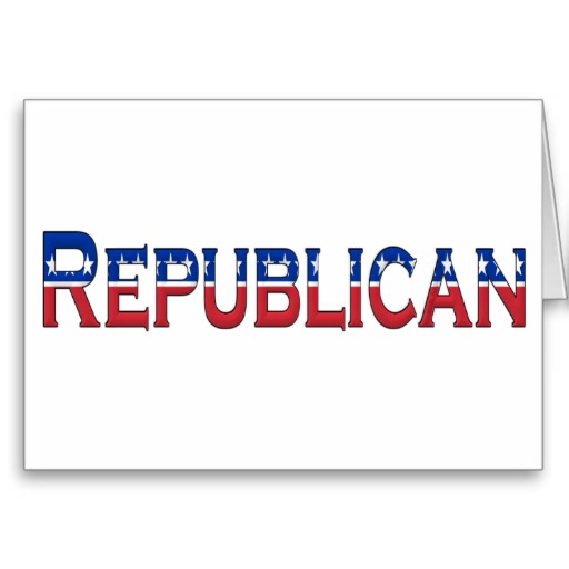 Republican Stars and Stripes Logo Greeting Card