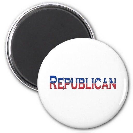 Republican Stars and Stripes Logo Magnets