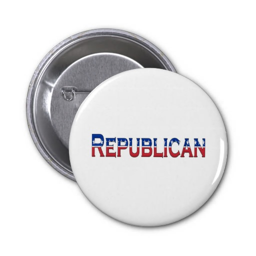 Republican Stars and Stripes Logo Pinback Button