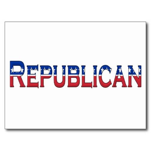Republican Stars and Stripes Logo Postcard