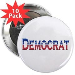 """Democrat Logo 2.25"""" Button (10 pack)"""