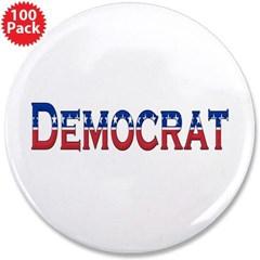 """Democrat Logo 3.5"""" Button (100 pack)"""