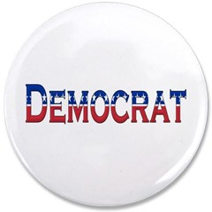 """Democrat Logo 3.5"""" Button"""