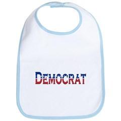 Democrat Logo Baby Bib