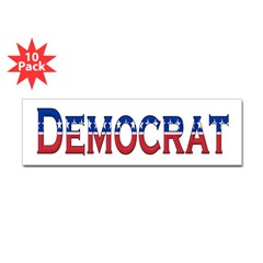 Democrat Logo Bumper Sticker 10 Pack