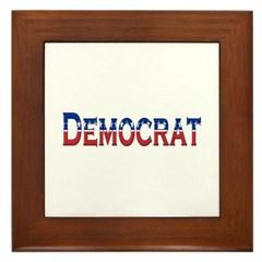 Democrat Logo Framed Tile