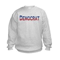 Democrat Logo Kids Crewneck Sweatshirt by Hanes