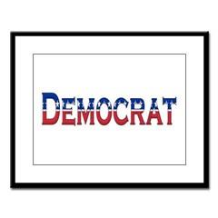 Democrat Logo Large Framed Print