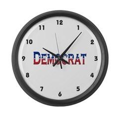 Democrat Logo Large Wall Clock