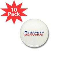 Democrat Logo Mini Button (10 pack)