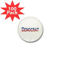 Democrat Logo Mini Button (100 pack)