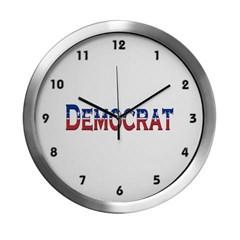 Democrat Logo Modern Wall Clock