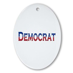 Democrat Logo Ornament (Oval)