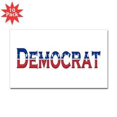 Democrat Logo Rectangle Decal 10 Pack