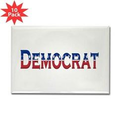 Democrat Logo Rectangle Magnet (10 pack)