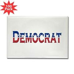 Democrat Logo Rectangle Magnet (100 pack)