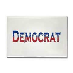 Democrat Logo Rectangle Magnet