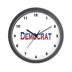 Democrat Logo Wall Clock