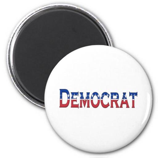 Democrat Stars and Stripes Logo Magnet
