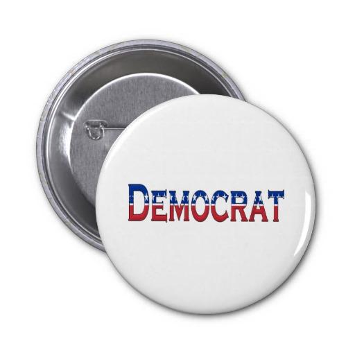 Democrat Stars and Stripes Logo Pinback Buttons