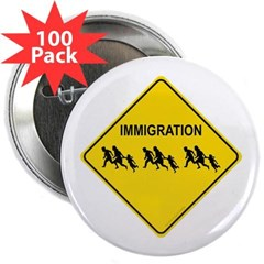 "Immigration Crossing 2.25"" Button (100 pack)"