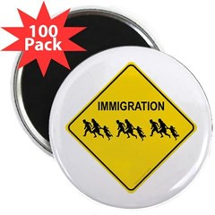 "Immigration Crossing 2.25"" Magnet (100 pack)"