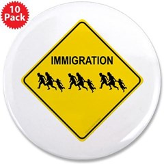 "Immigration Crossing 3.5"" Button (10 pack)"