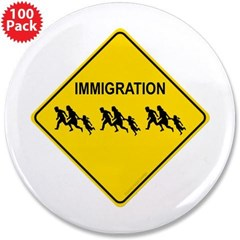"Immigration Crossing 3.5"" Button (100 pack)"